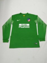 Atletico Madrid Jersey 2017/18 Green LS Goalkeeper Soccer Shirt