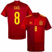 Euro 2020 Spain Home Red #8 SAUL Soccer Jersey Shirt