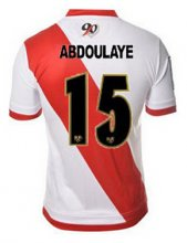 Rayo Vallecano Jersey 2015/16 Home Soccer Shirt #15 ABDOULAYE