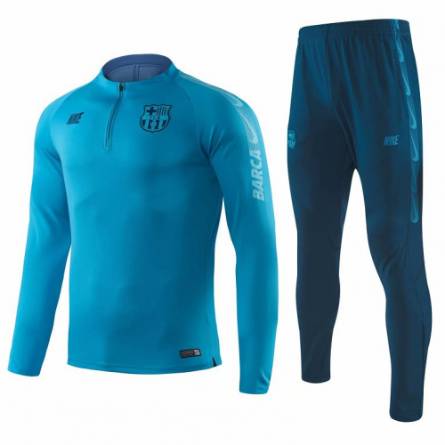 2019-20 BARCELONA TRAINING JACKET SUIT BLUE